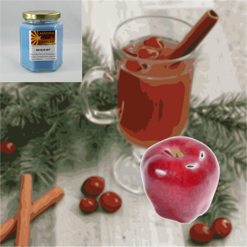 Apple Berry Spice 210g Hexagon Jar Soy Candle