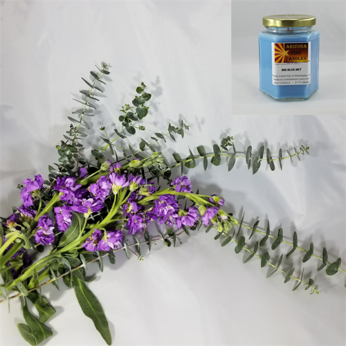 Lavender & Eucalyptus 210g Hexagon Jar Soy Candle