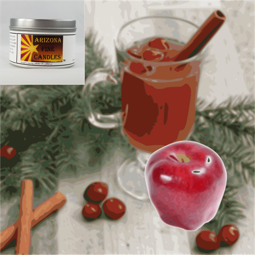 Apple Berry Spice 175 Tin Soy Candle