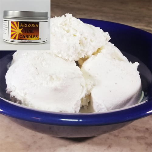 Creamy Vanilla Ice Cream 175g Tin Soy Candle