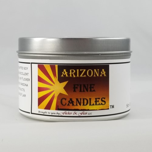 Lustrous Leather 175g Tin Soy Candle