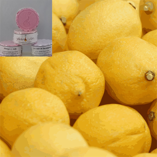 Lemon Chiffon Bubble Bath Bombs - Four Pack