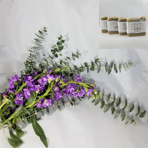 Lavender & Eucalyptus Cocoa & Shea Butter Natural Soap 4 Pack