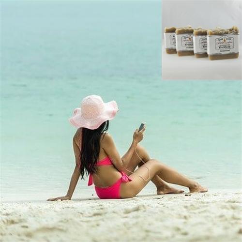 Bikini Season Cocoa & Shea Butter Natural Soap 4 Pack