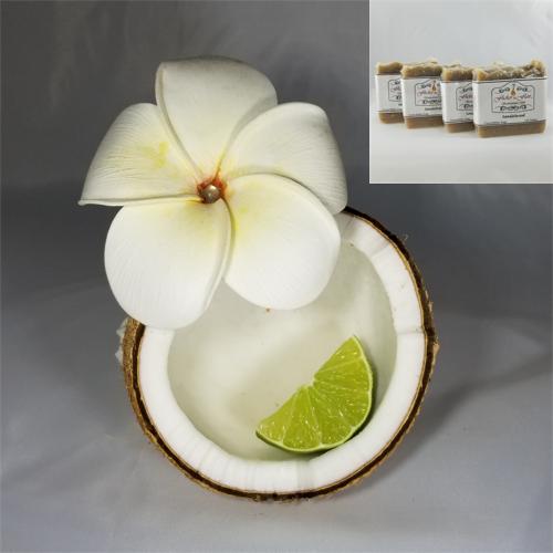 Hawaiian Coconut Cocoa & Shea Butter Natural Soap 4 Pack