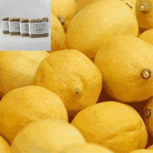 Lemon Chiffon Cocoa & Shea Butter Natural Soap 4 Pack