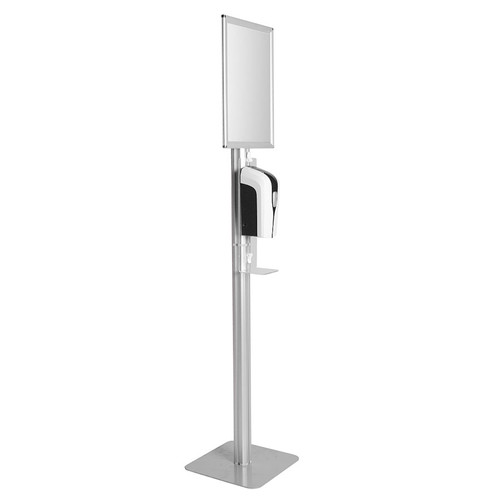 Hand Sanitizer Stand with Poster Frame