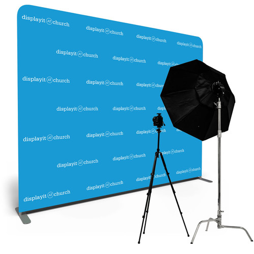 10' Double-Sided Video Backdrop: Customizable Step and Repeat