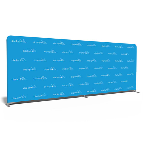 20' Double-Sided Video Backdrop: Customizable Step and Repeat