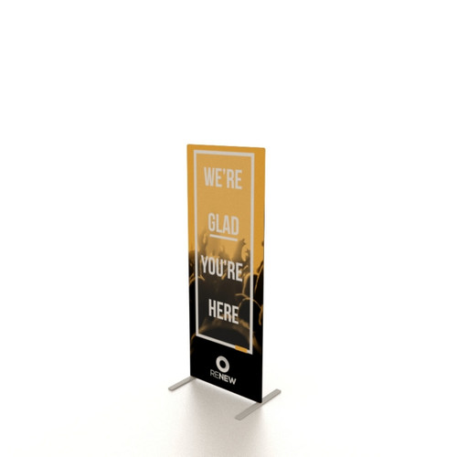 """24""""w x 64""""h UL Double-Sided Fabric Banner Stand"""