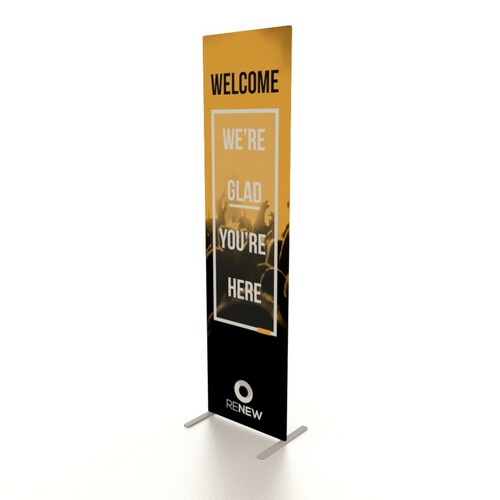 """24""""w x 90""""h UL Double-Sided Fabric Banner Stand"""
