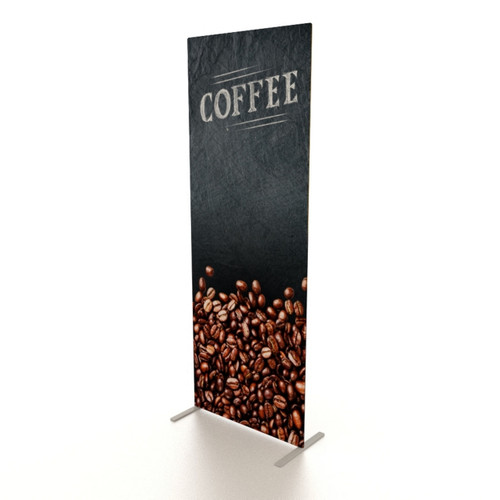 """34""""w x 90""""h UL Double-Sided Fabric Banner Stand"""
