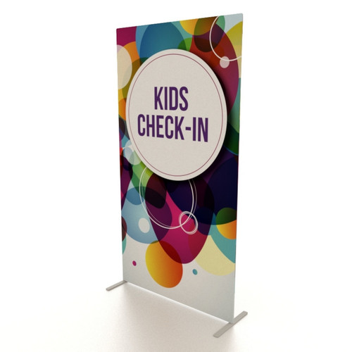 """48""""w x 90""""h UL Double-Sided Fabric Banner Stand"""