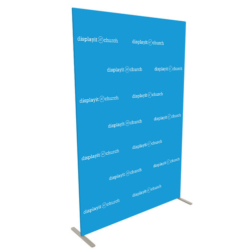 5' Double-Sided Video Backdrop: Customizable Step and Repeat