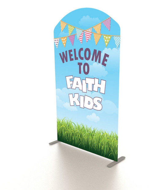 XL Double-Sided Fabric Banner Stand: 5' Arch Top