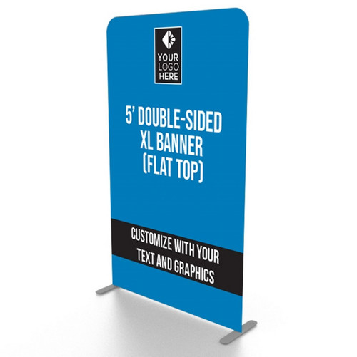 XL Double-Sided Fabric Banner Stand: 5' Flat Top