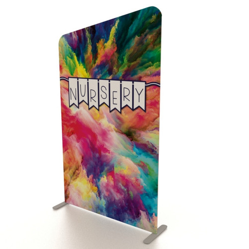 XL Double-Sided Fabric Banner Stand: 5' Slope Top