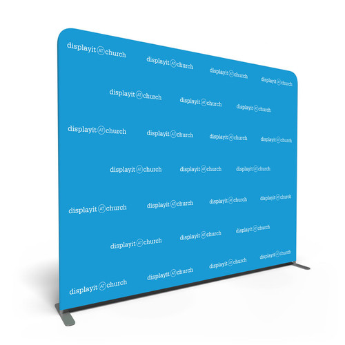 8' Double-Sided Video Backdrop: Customizable Step and Repeat