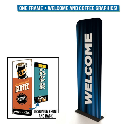 """30"""" Renew Banner Stand with 2 Double-Sided Graphics"""
