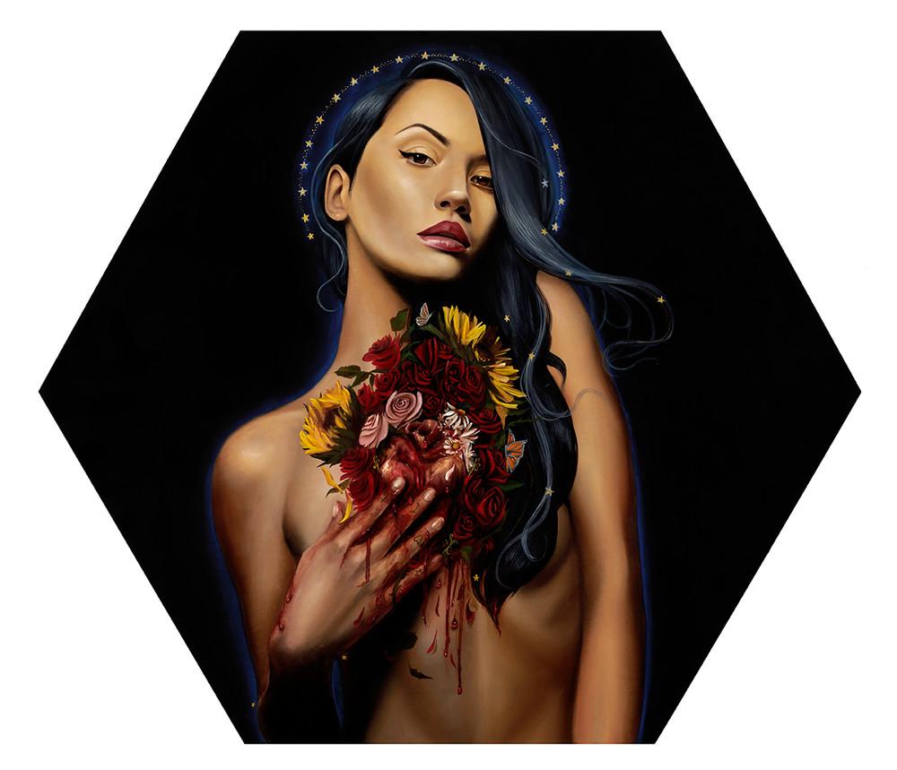 Para Siempre (painting) by Haydee Escobar