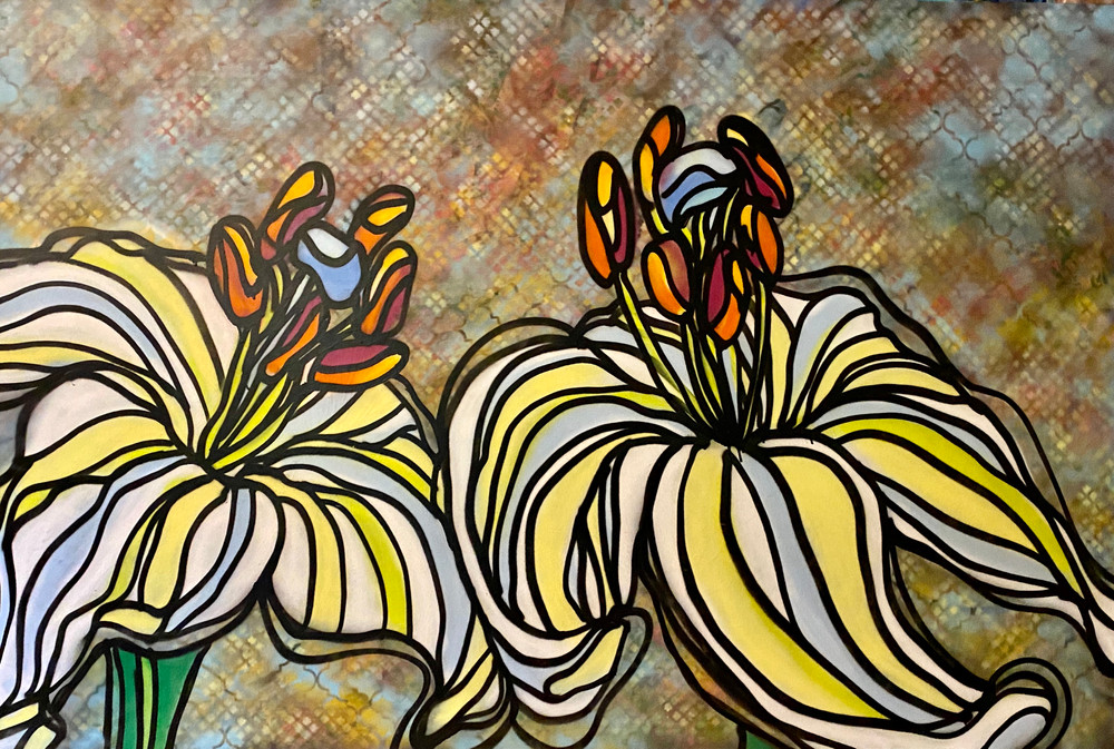 Lean In Lilies by Andrea LaHue