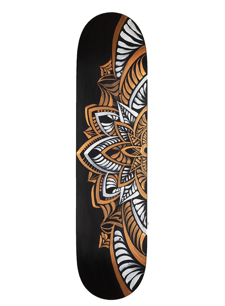 Mandala I Skate Deck by Erin Yoshi