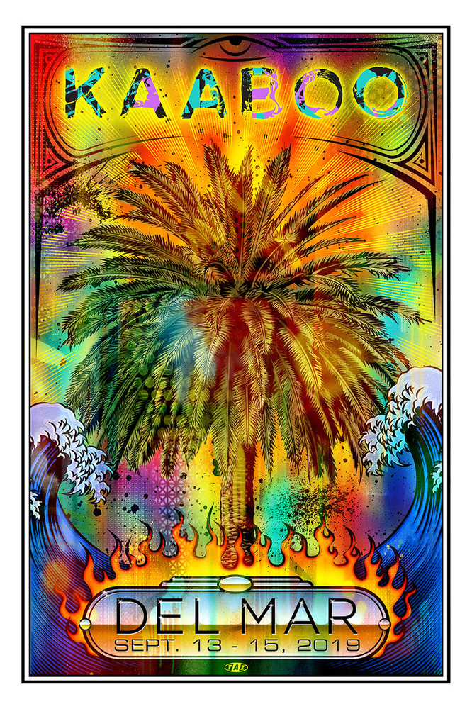 The Burning Palm by TAZ (KAABOO 2019)