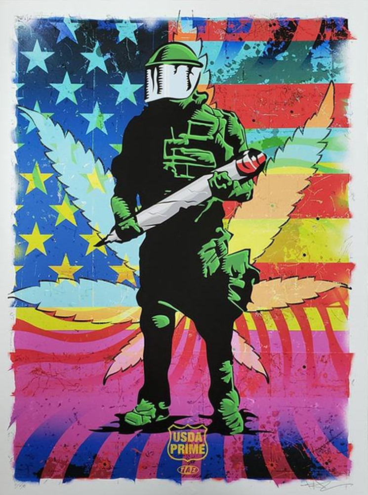 """Cannabis Cop by Jim """"TAZ"""" Evans"""