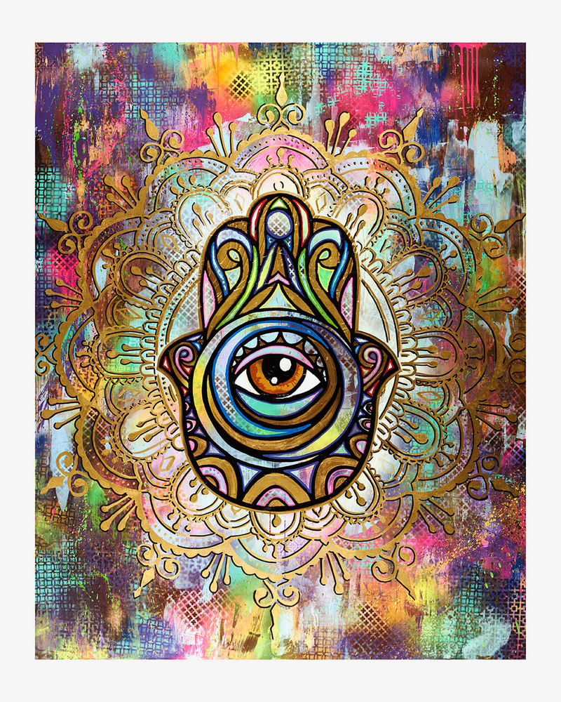 Glowing for Love Hamsa by Shlome