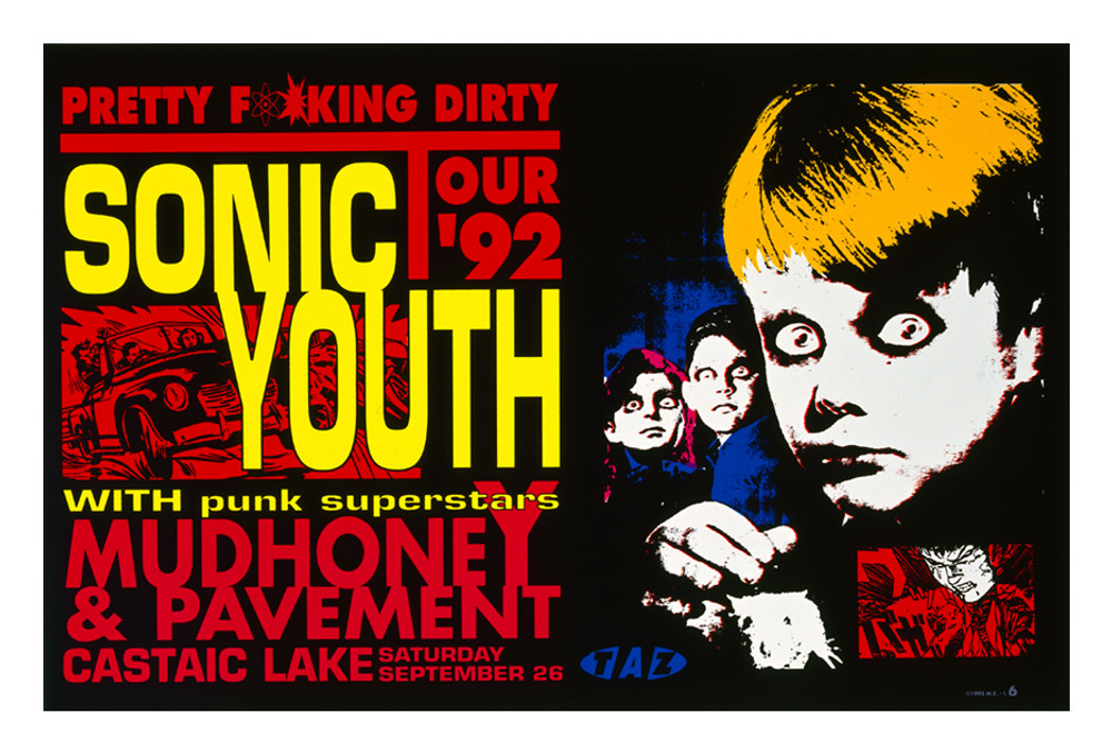 "SONIC YOUTH - PRETTY DIRTY TOUR by Jim ""TAZ"" Evans 1992"