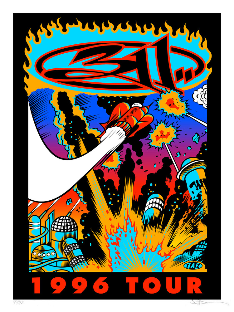 """311"" 1996 Tour 25th Anniversary Edition by Jim ""TAZ"" Evans"