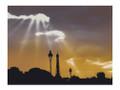 Eiffel Silhouette by Sandy Shimooka