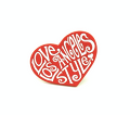 "LOVE LOS ANGELES STYLE (Lapel Pin) by Jim ""TAZ"" Evan + PINS & NEEDLES"