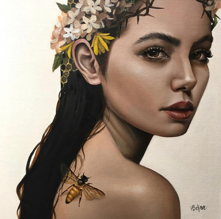 I'm Not Your Honey (painting) by Haydee Escobar