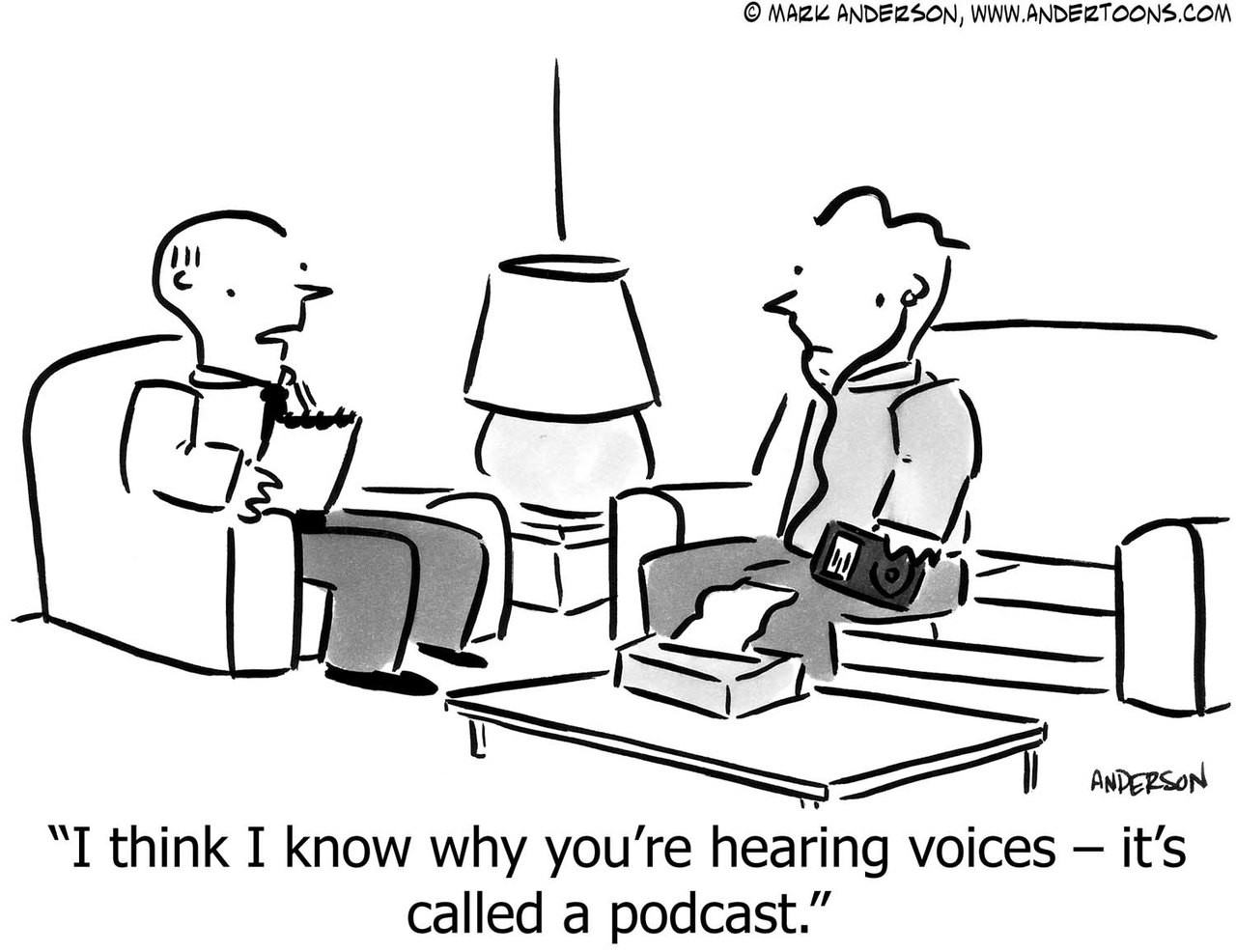 Image result for podcast cartoon