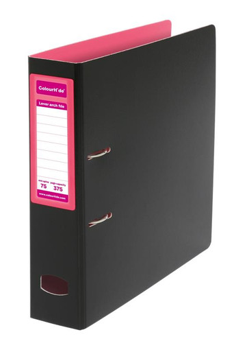 COLOURHIDE MIGHTY LEVER ARCH FILE (PINK)