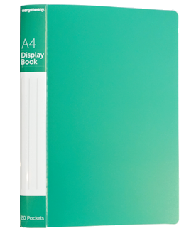 A4 CLEARFILE  20 POCKET (GREEN)