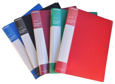 A4 CLEARFILE  40 POCKET (ASSORTED)