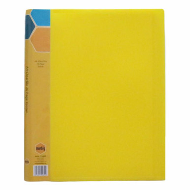A4 CLEARFILE  20 POCKET (YELLOW)