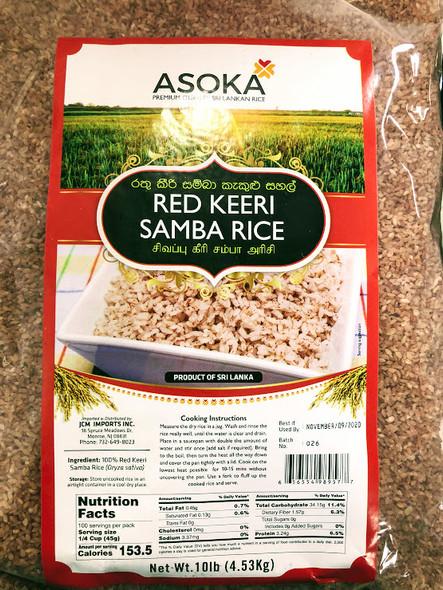 Asoka Red Keeri Samba Rice - 10lb