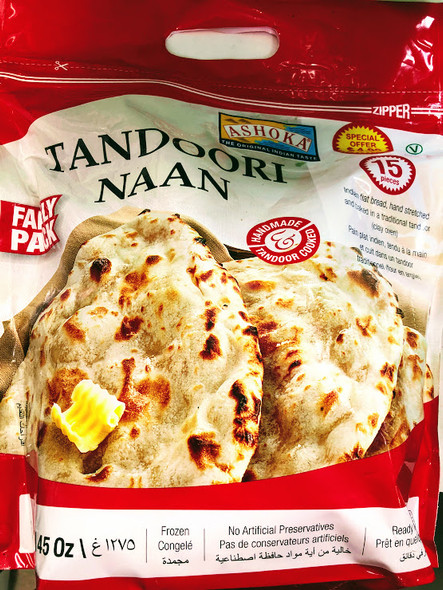 Ashoka Tandoori Naan-Plain 1275gm Family Pack