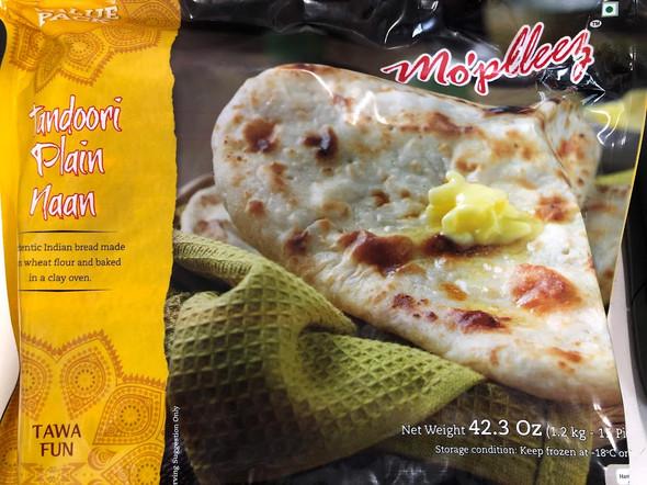 Mopleez Tandoori Plain Naan - 1.2kg
