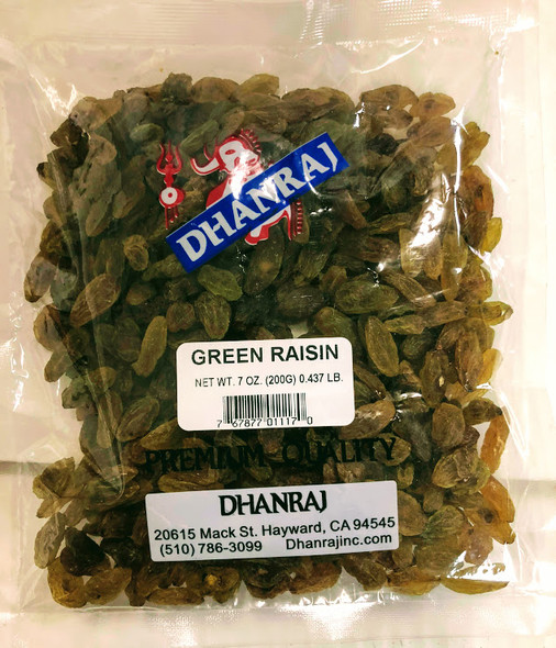 Dhanraj Green Raisin - 7oz