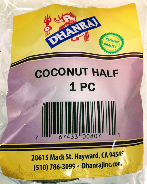 Dhanraj Coconut Half - 1PC