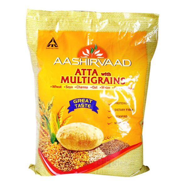 Aashirvaad Whole Wheat Multigrain flour - 20lb