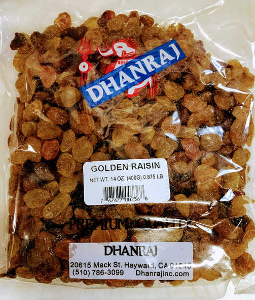 Dhanraj Golden Raisin - 14oz