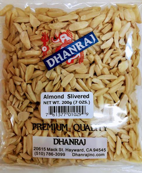 Dhanraj Almond Silvered - 200g