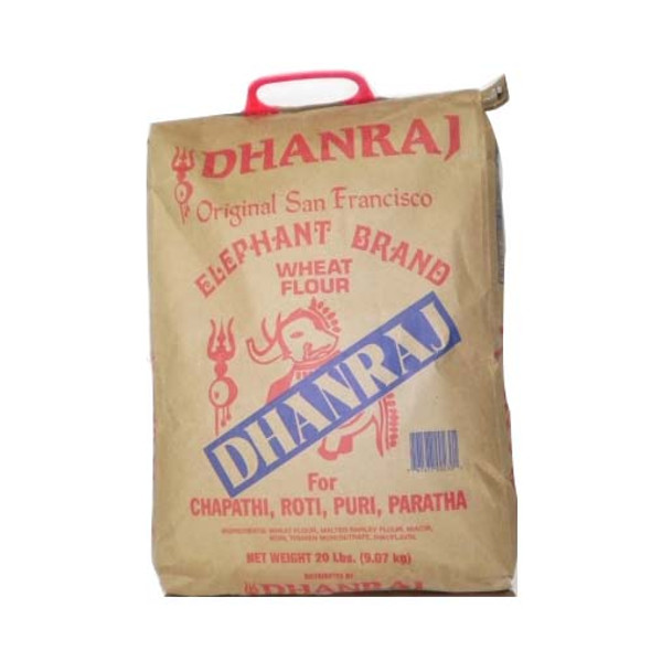 Dhanraj Elephant Brand Wheat Flour 20lb