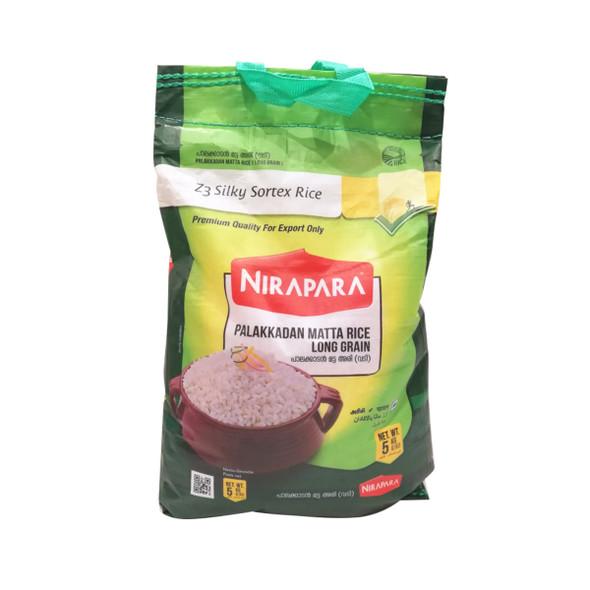 Nirapara Palakkadan Matta Rice (Silky Sortex) Green Bag -  5 kg