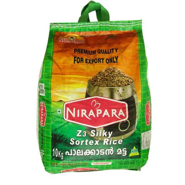Nirapara Palakkadan Matta Rice (Silky Sortex) Green Bag - 10 kg